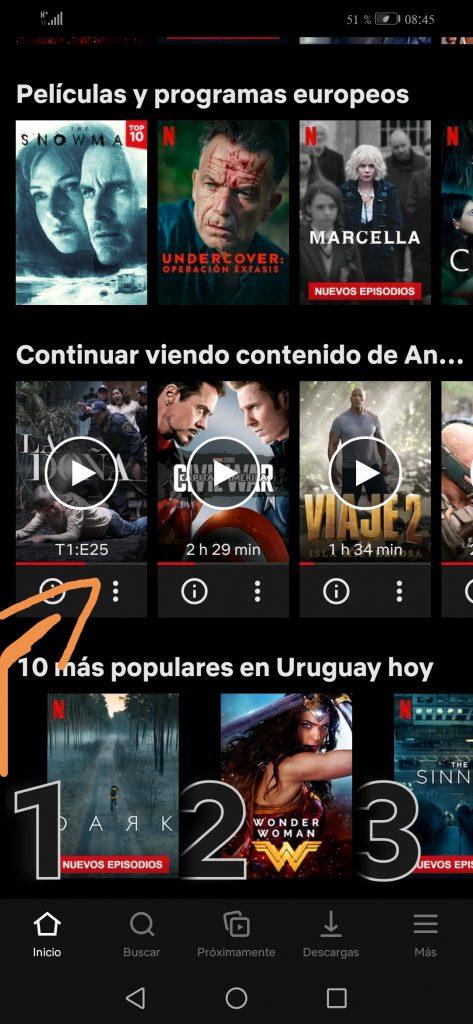 Netflix plataforma en Android