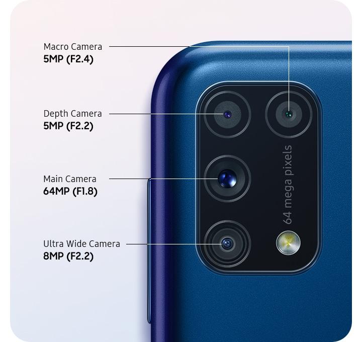 diseño y características de cámaras traseras del  Samsung Galaxy M31