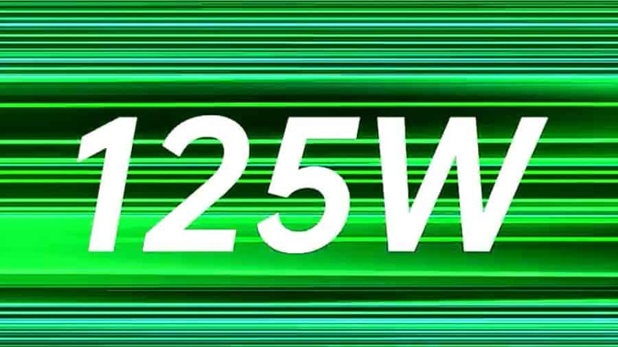 125W súper Vooc carga rápida