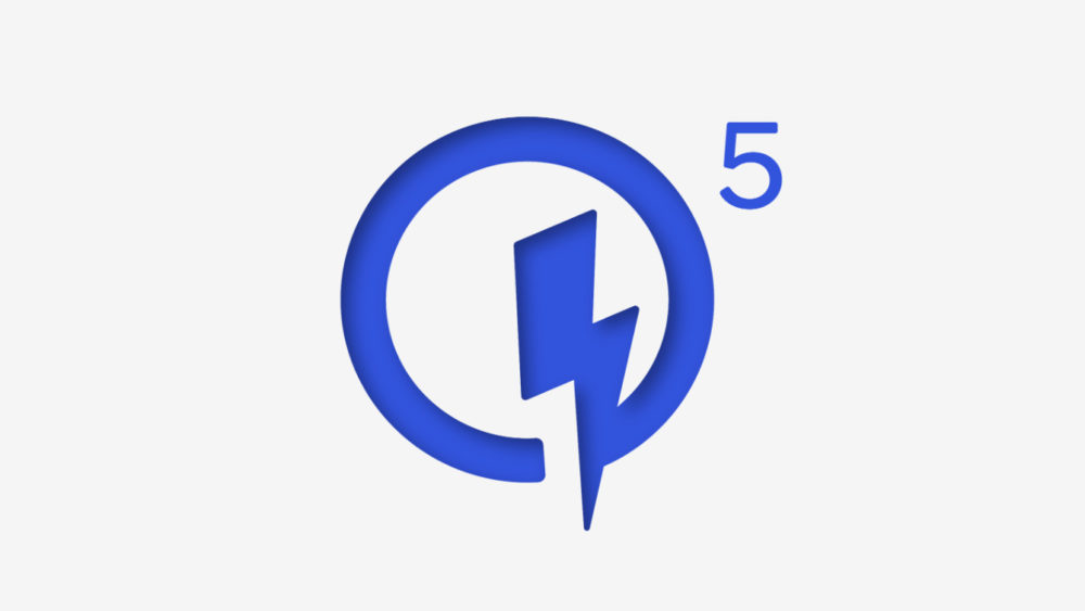 Quick Charge 5 logotipo