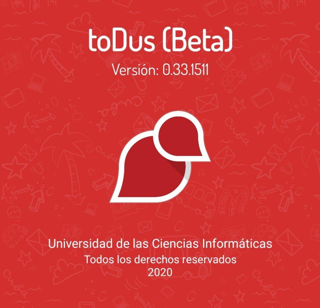 versión beta : 0.33.1511. ToDus