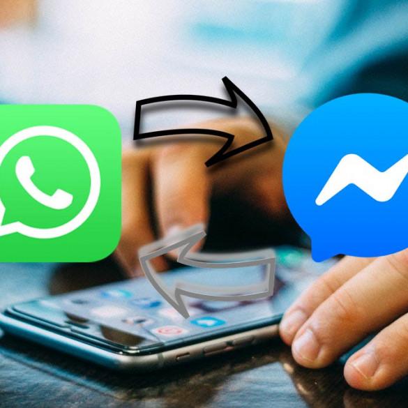 WhatsApp Facebook y Messenger