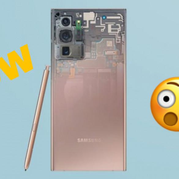 Galaxy Note 20 Ultra fondos transparentes