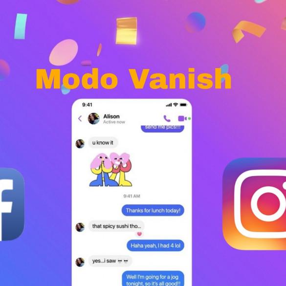Modo Vanish en Facebook Messenger e Instagram