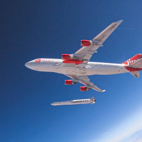 Virgin consigue poner un satélite en órbita desde un avión