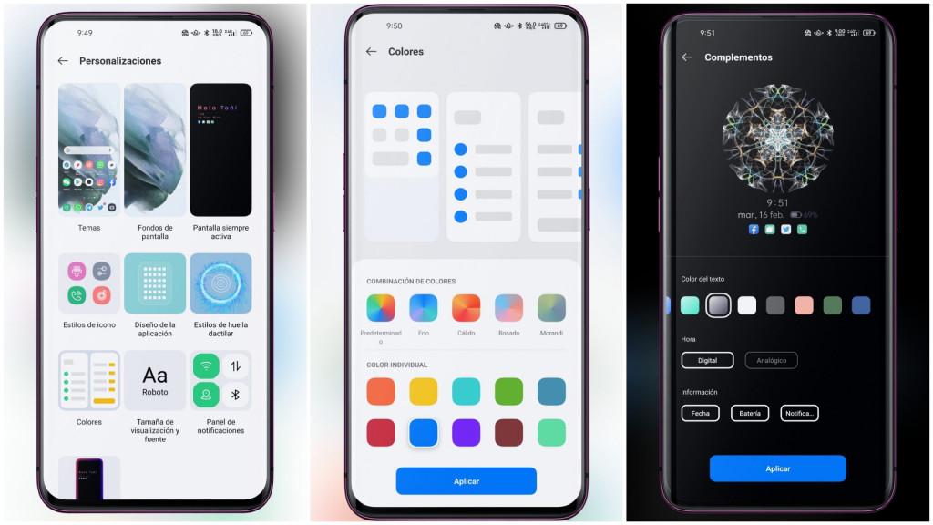 ColorOS 11 personalización