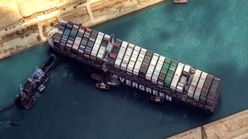 Canal de Suez bloqueado